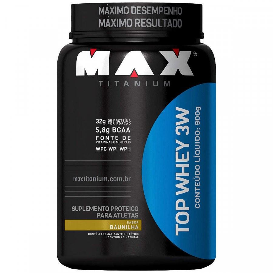 Top Whey 3W Baunilha 900Gr Max Titanium