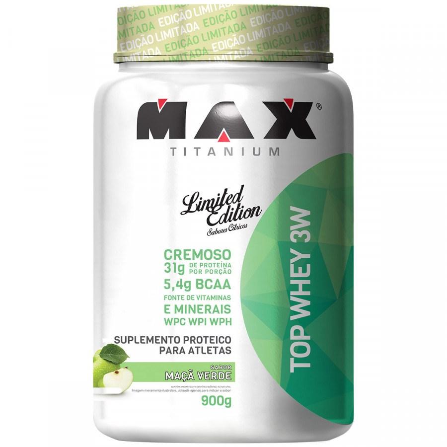 Top Whey 3W Maça Verde 900Gr Max Titanium