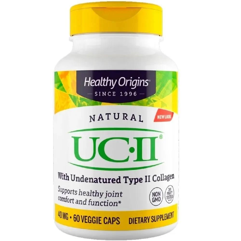 UC II Cólágeno Tipo 2 60 Cáps. 40 mg Healthy Origins
