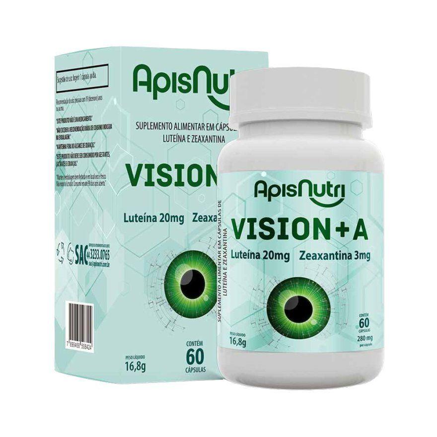 Vision Apisnutri Luteína Zeaxantina Vitamina A E C 60 Caps