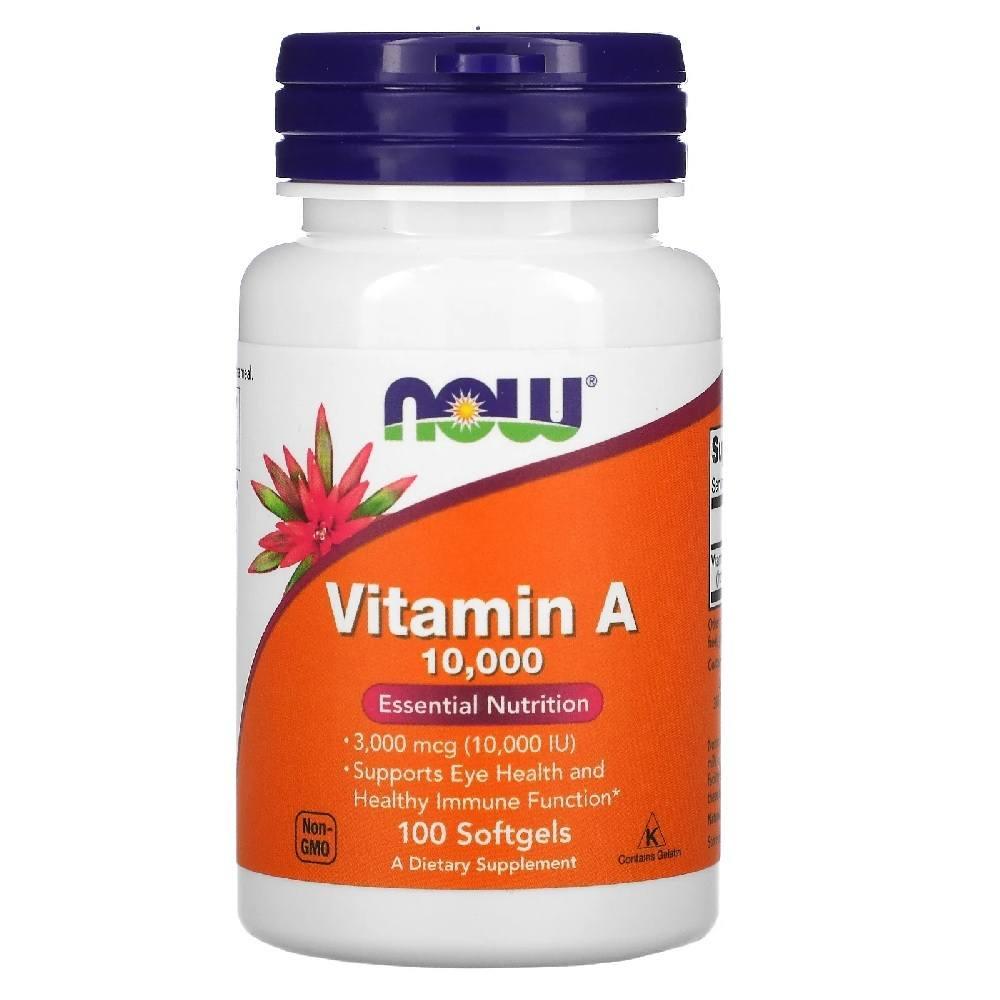 Vitamina A 10.000 IU 100 Softgels Now Foods