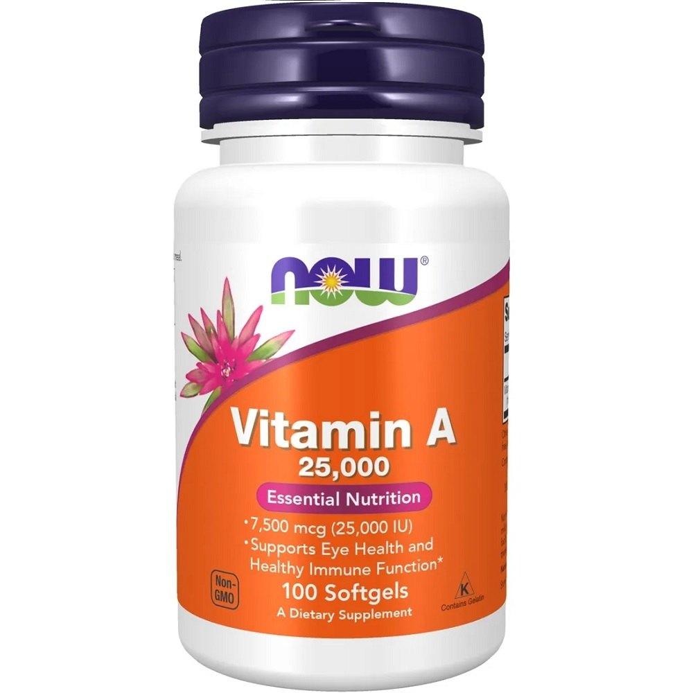 Vitamina A 25.000 IU 100 Softgels Now Foods