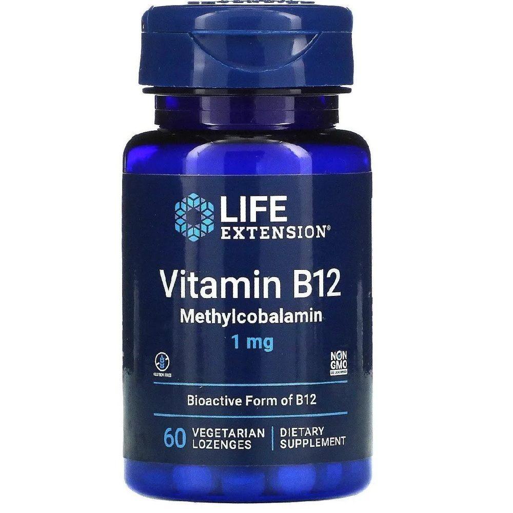 Vitamina B12 Metilcobalamina 1 mg 60 Lozenges Life Extension