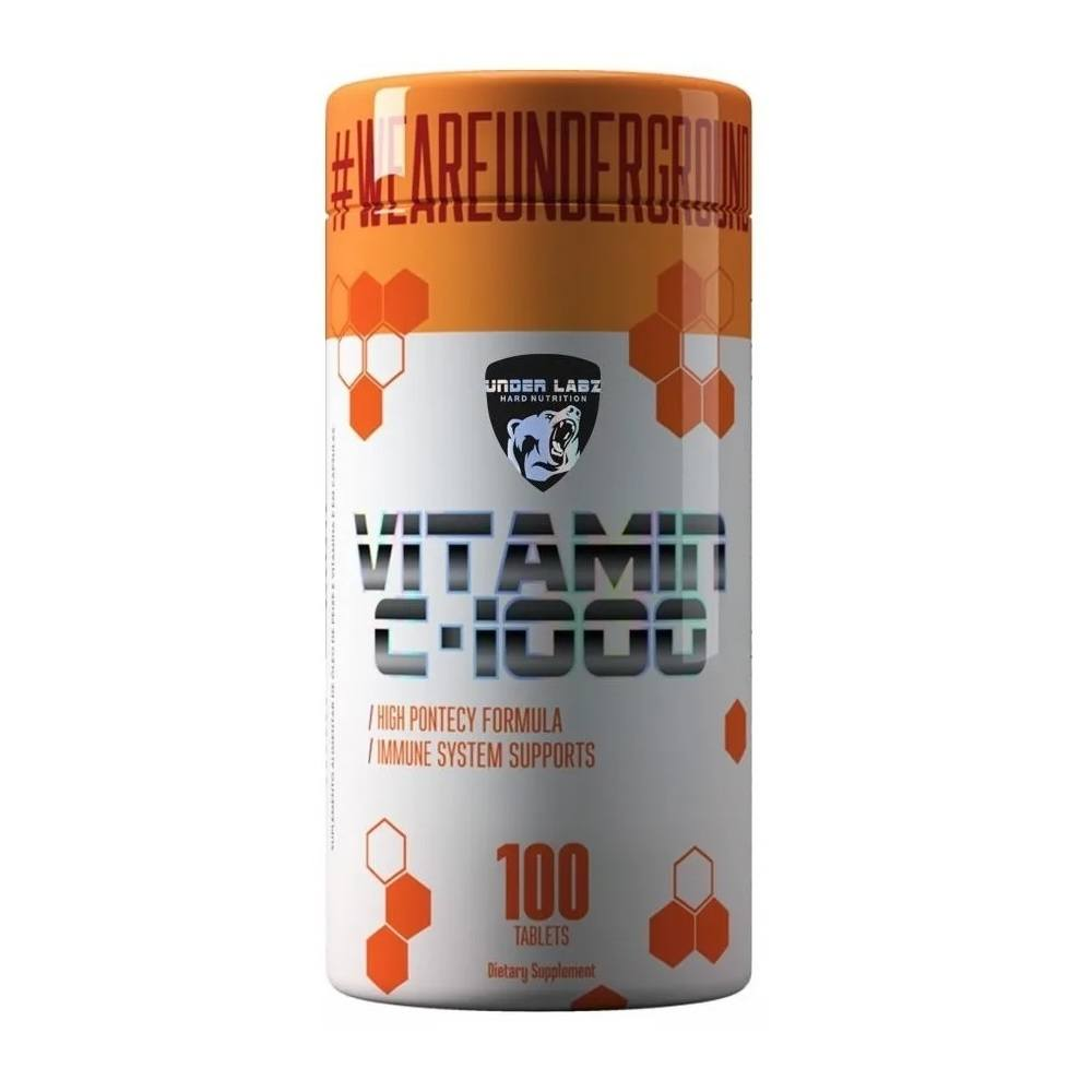 Vitamina C 1000 mg 100 Tabletes Under Labz