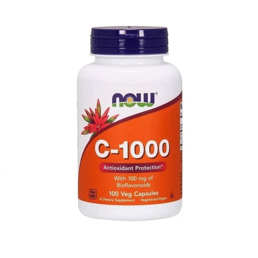 Vitamina C 1000 mg com Bioflavonoides 100 Cáps. Now Foods