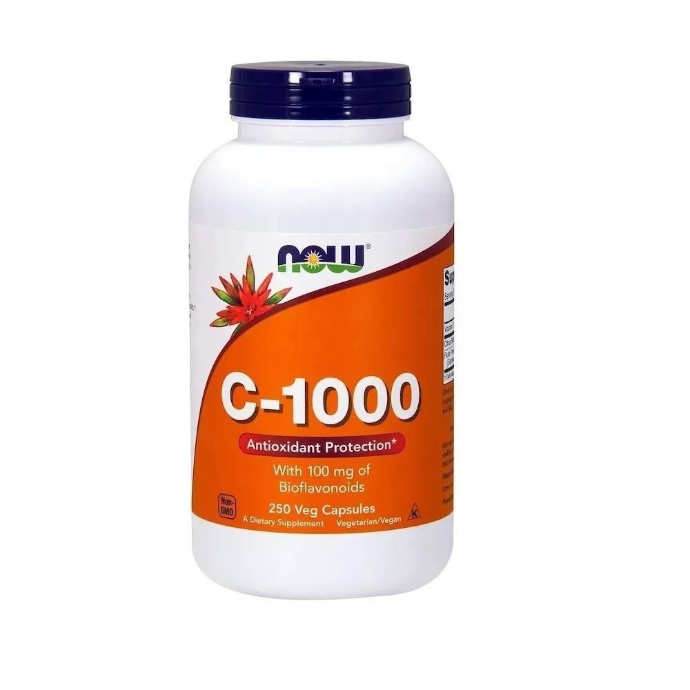 Vitamina C 1000 mg com Bioflavonoides 250 Cáps. Now Foods