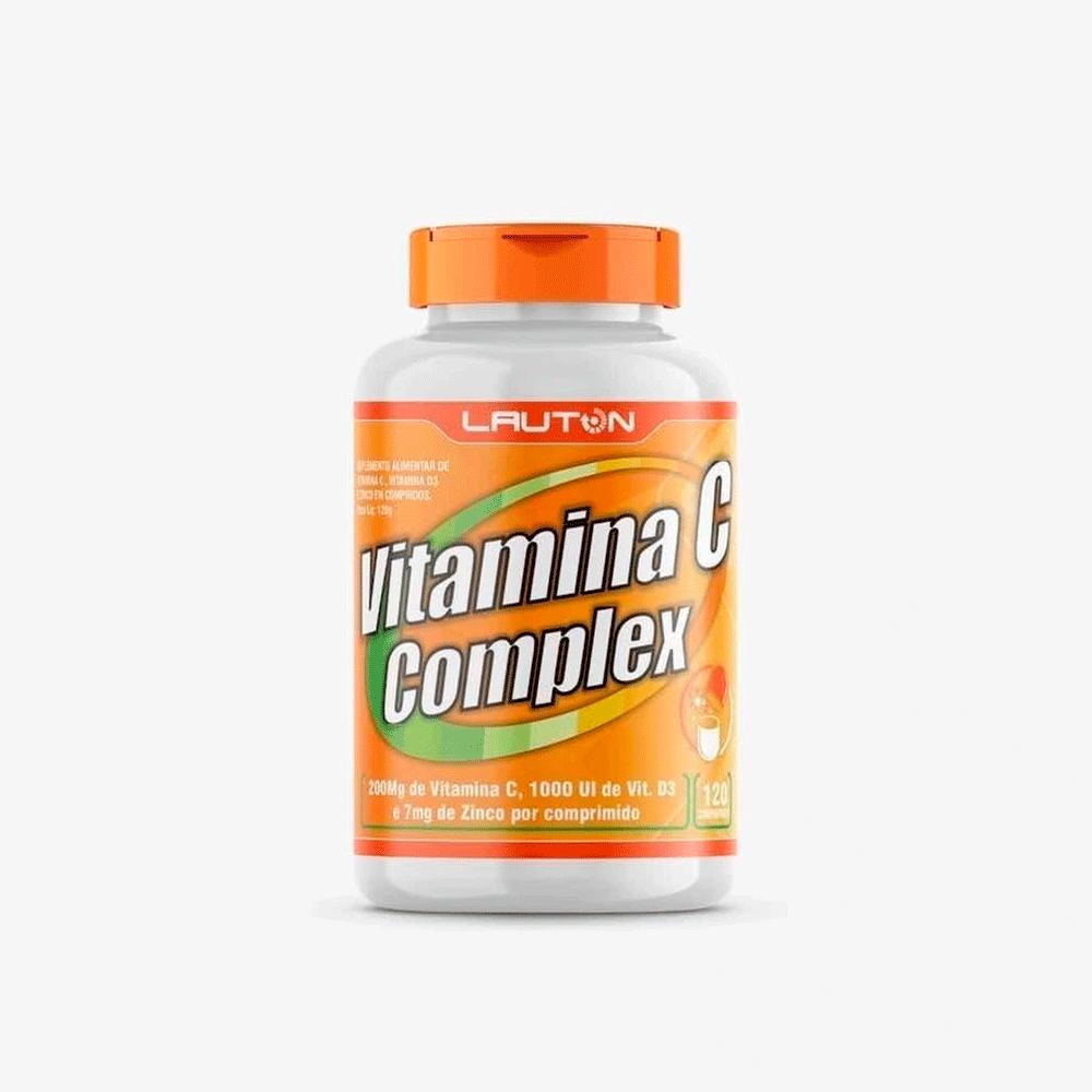 Vitamina C Complex Com Vit D3 E Zinco 120 Tabs Lauton Nutrition