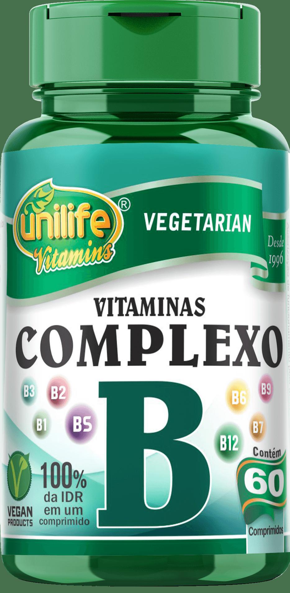Vitamina Complexo B 500mg 60 Comprimidos Unilife