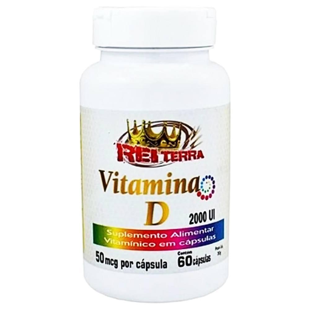 Vitamina D 2.000 UI 60 cáps Vitamina Do Sol Reposição diaria