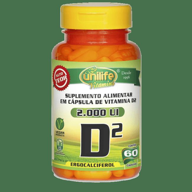 Vitamina D2 2000 UI 60 Cápsulas - Unilife