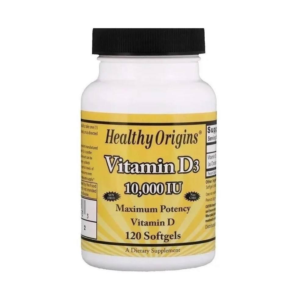 VITAMINA D3 10.000 IU 120 SOFTGELS HEALTHY ORIGINS