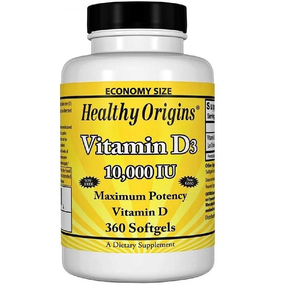 Vitamina D3 10.000 IU 360 Softgels Healthy Origins