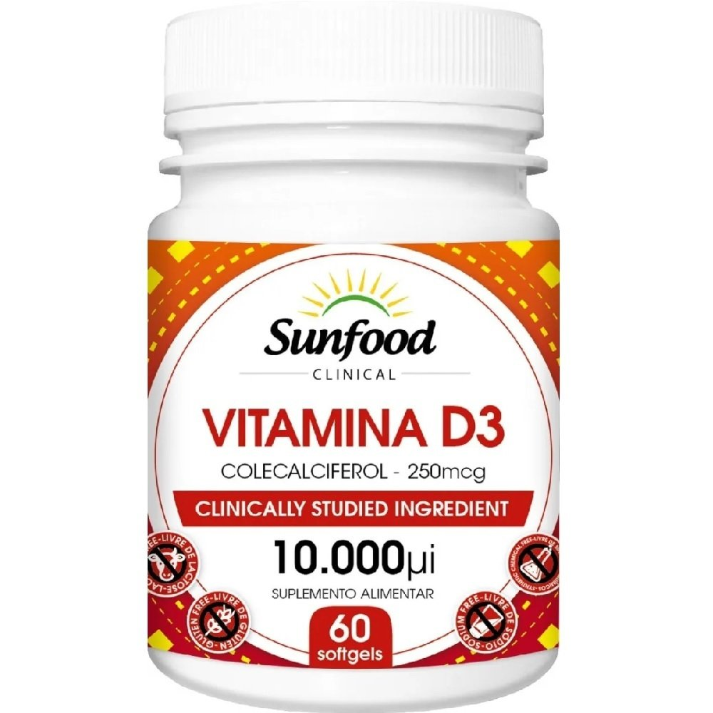 Vitamina D3 10.000 IU 60 Softgels SunFood