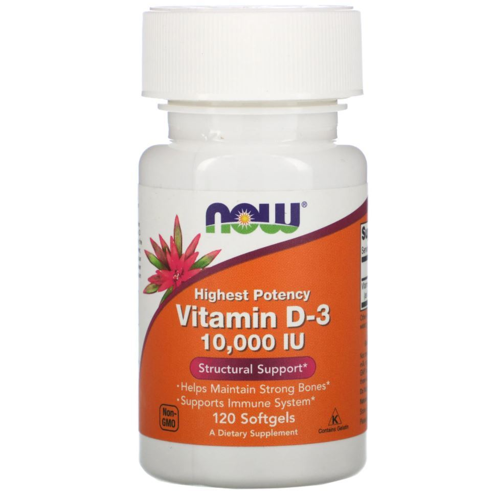 Vitamina D3 10000ui 120 Softgels Importado manter ossos fortes