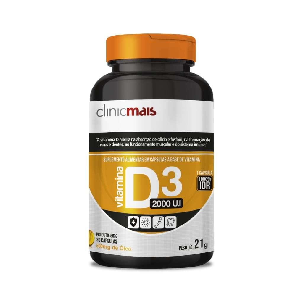 Vitamina D3 2000UI 30 Cápsulas 500mg