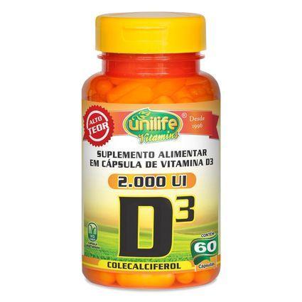 Vitamina D3 - 2.000UI - 60 Capsulas - Unilife