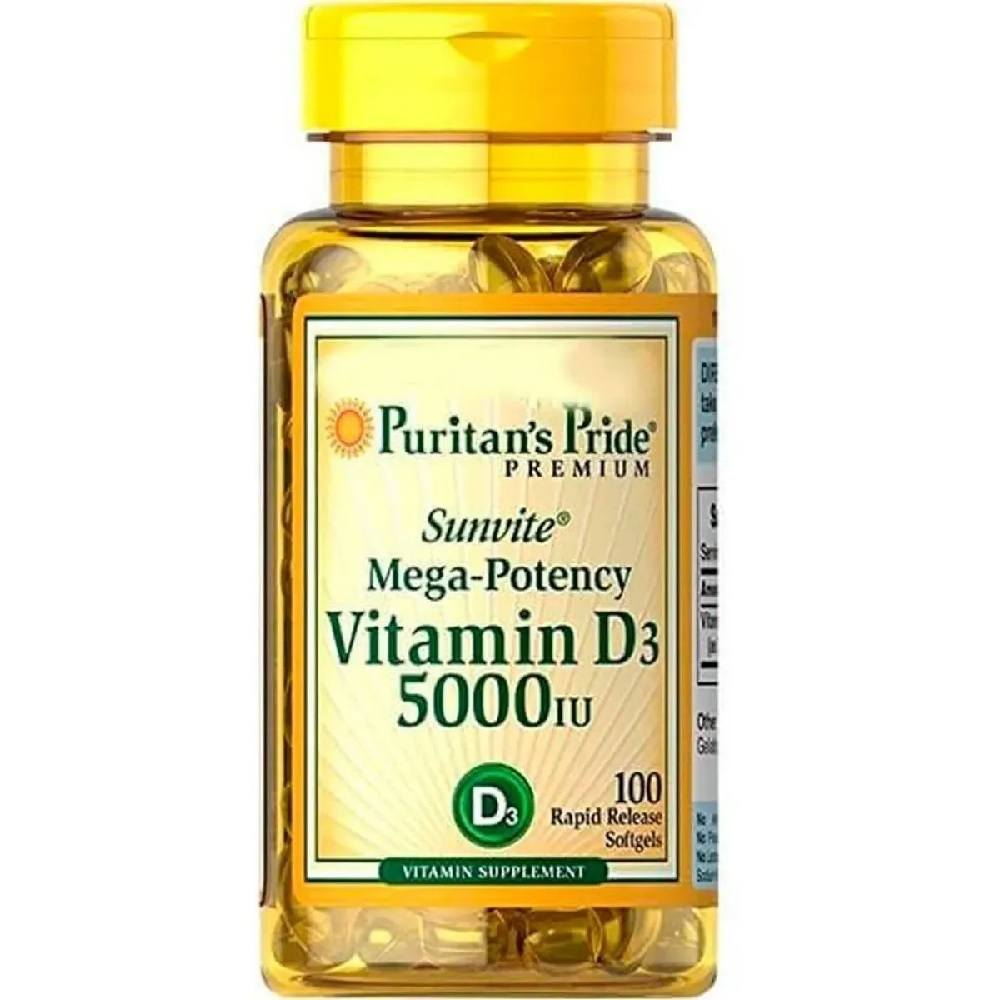 Vitamina D3 5.000 IU 100 Softgels Puritans Pride