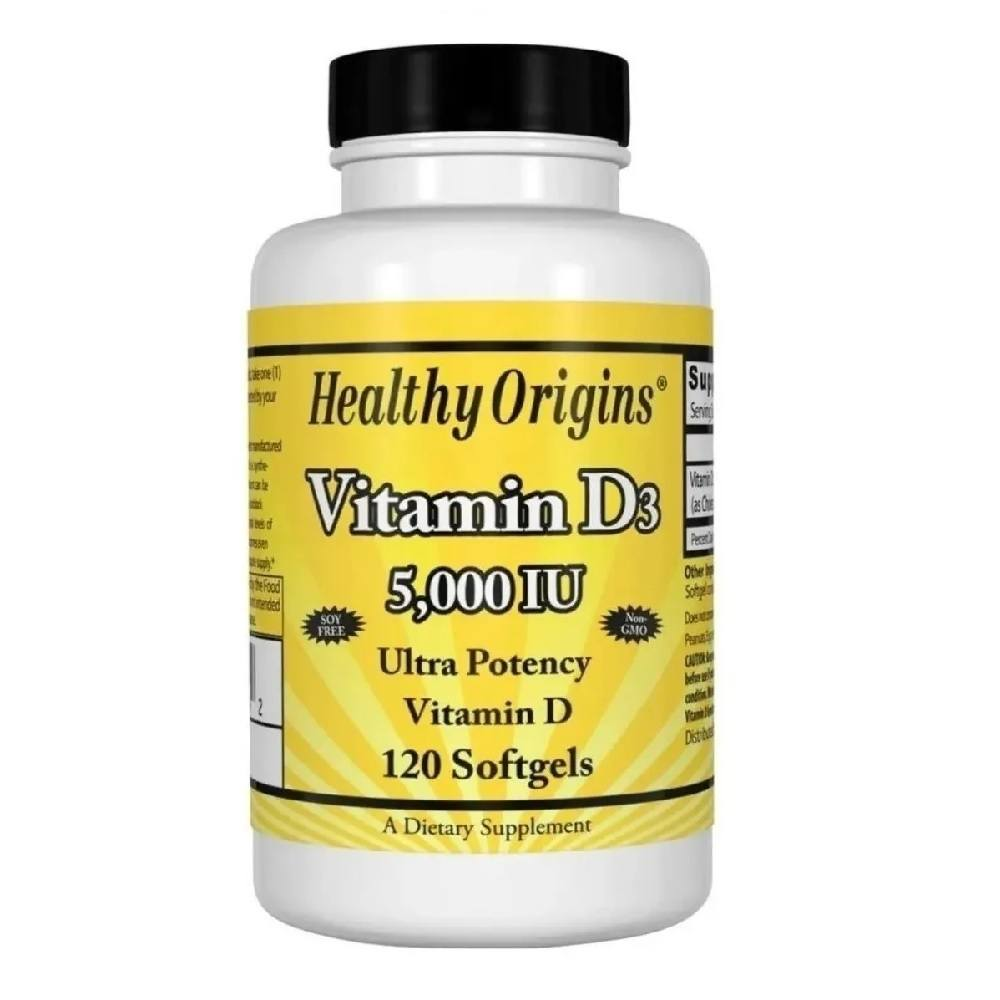 Vitamina  D3 5.000 IU 120 Softgels Healthy Origins