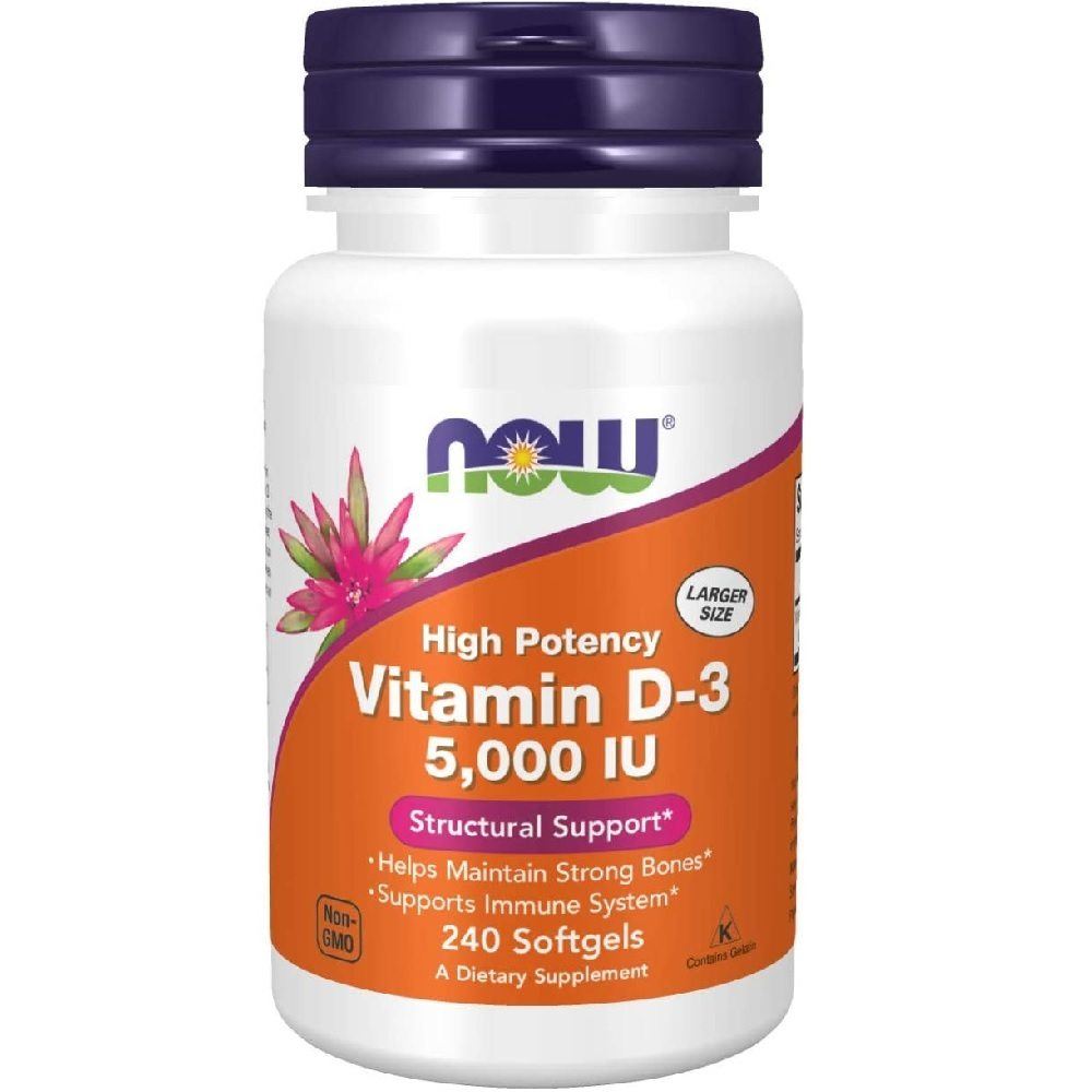 Vitamina D3 5.000 IU  240 Softgels Now Foods