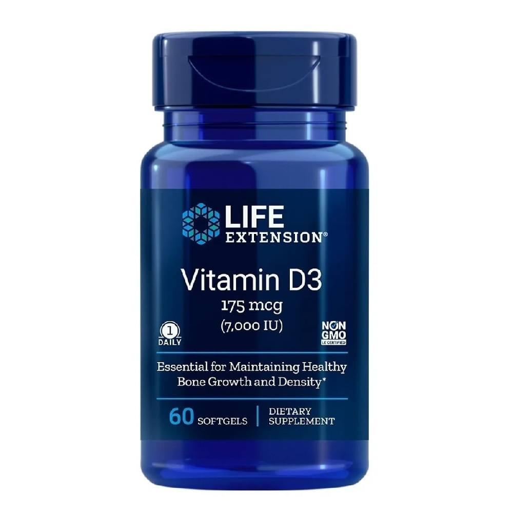 Vitamina D3 7.000 IU 60 Softgels Life Extension