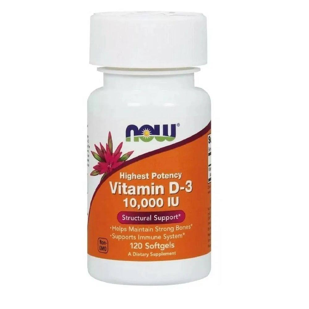 Vitamina D3 Now Foods 10.000 IU 120 Softgel