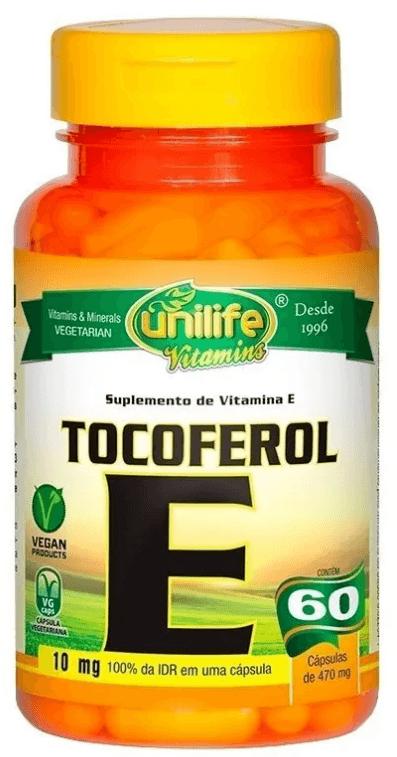 Vitamina E Tocoferol 60 Cápsulas Unilife