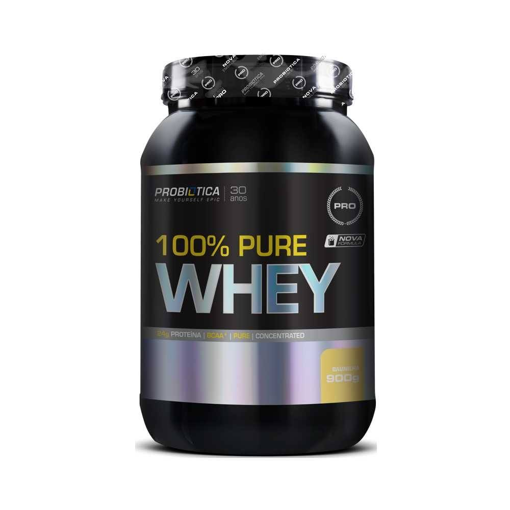 Whey 100% Pure 900G Chocolate Probiotica