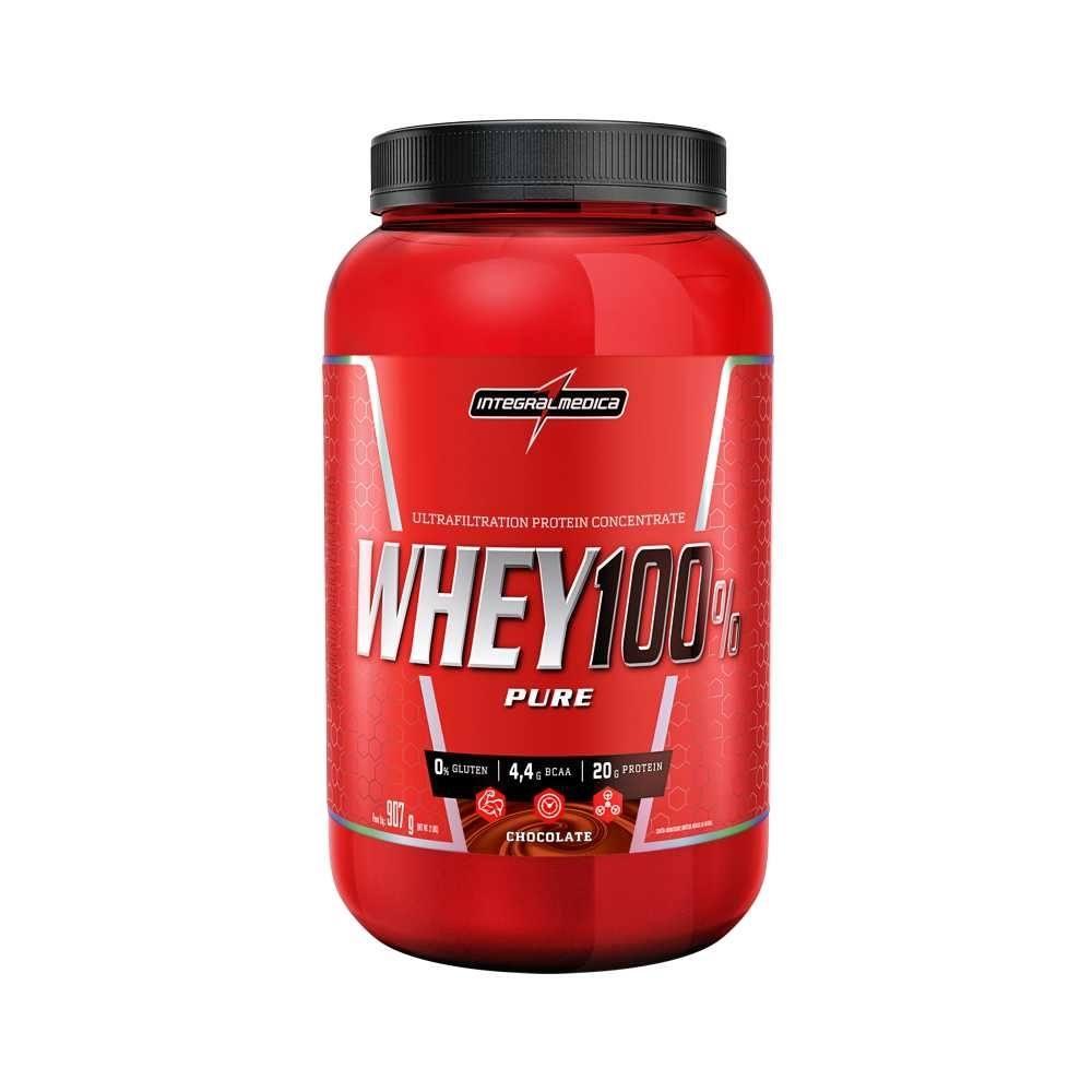 Whey 100% Pure Integralmédica Chocolate 907G Body Size