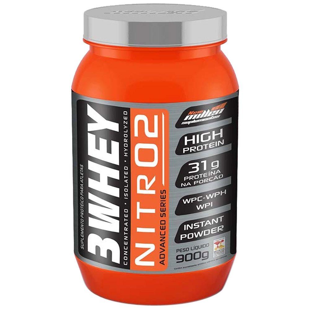 Whey 3W Protein Nitro2 Chocolate 900Gr New Millen