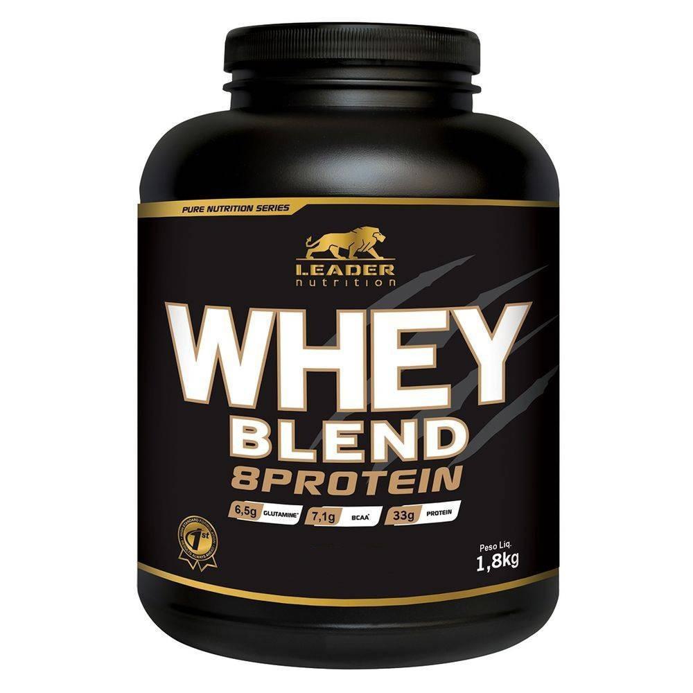 Whey Blend 8 Protein - Pote 1.8 Kg - Banana Com Canela Leader Nutrition