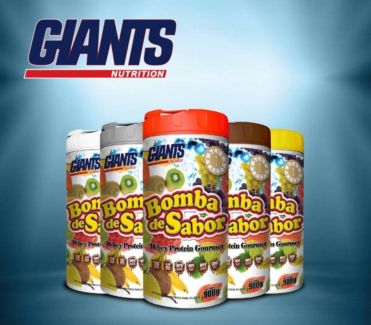 Whey Bomba De Sabor Banana Flambada 900G Giants Nutrition