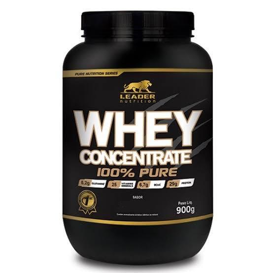 Whey Concentrado 100% Pure 900G - Baunilha Leader Nutrition