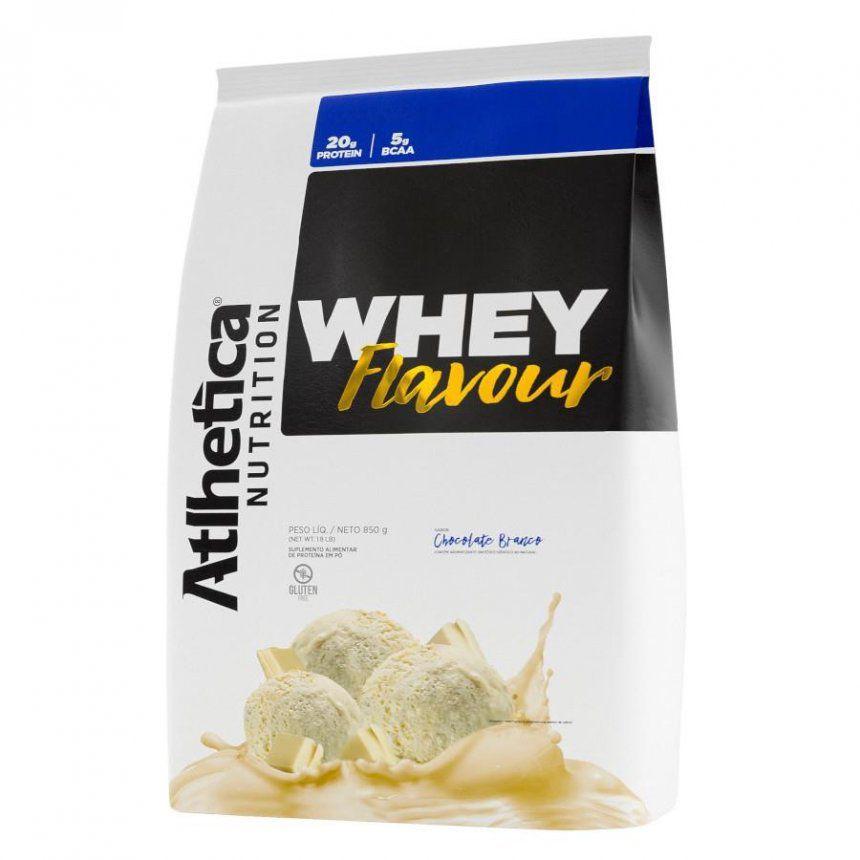 WHEY FLAVOUR (850G) - Chocolate Branco-ATLHETICA NUTRITION