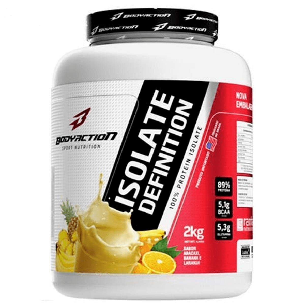 Whey Isolate Definition Protein 2Kg Vitamina De Frutas Bodyaction