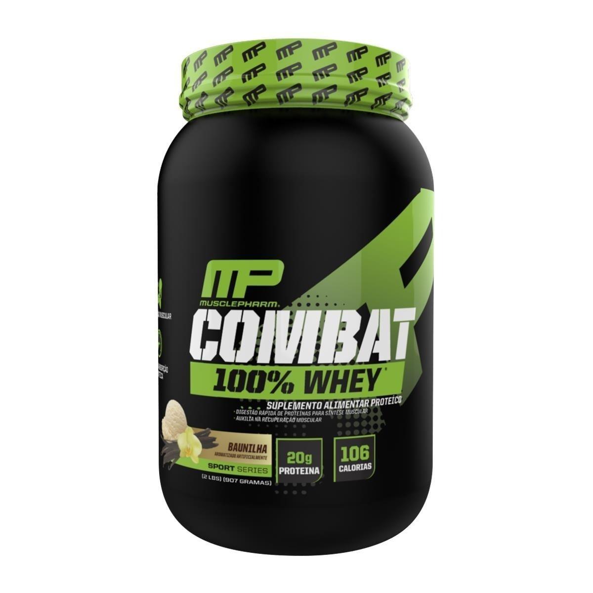 Whey Protein 100% Combat 900G Baunilha Musclepharm