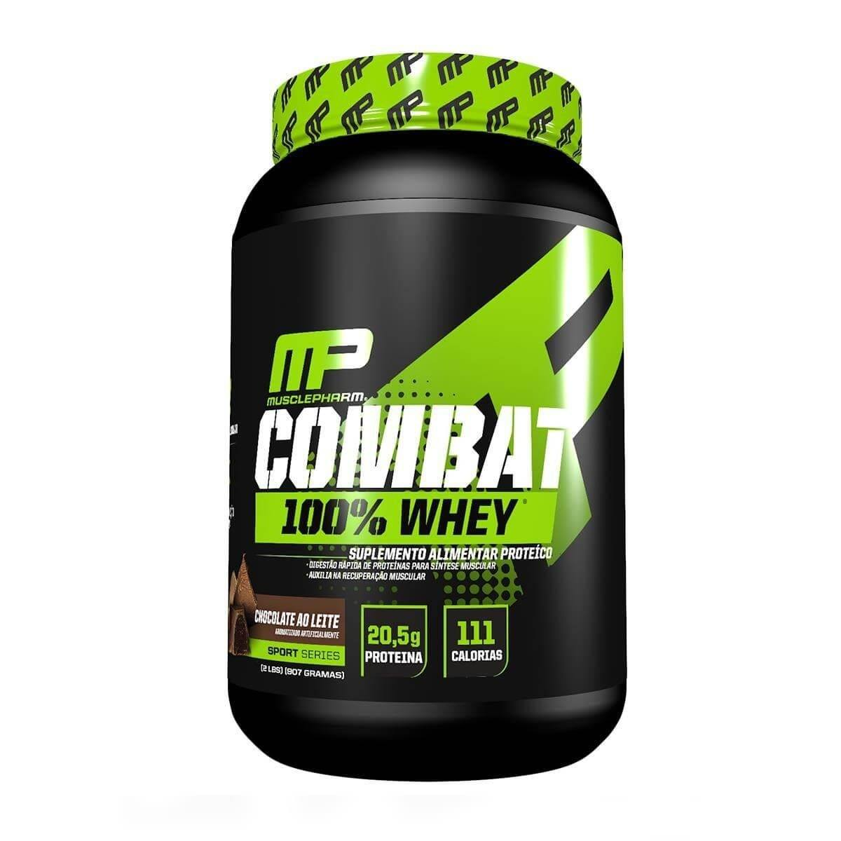 Whey Protein 100% Combat 900G Chocolate - Musclepharm