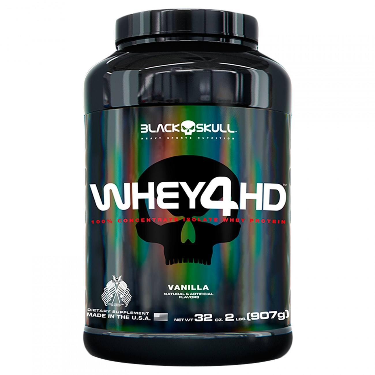 Whey Protein 4Hd 907Gr Baunilha Blackskull