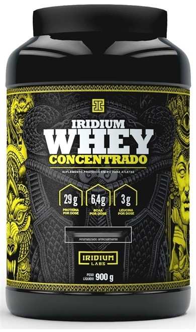 Whey Protein Concentrado 900G Chocolate Belga Iridium Labs