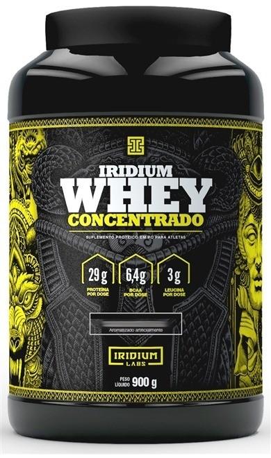 Whey Protein Concentrado 900G Morango Iridium Labs