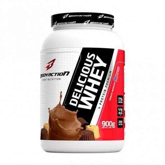 Whey Protein Delicious Whey 900Gr Chocolate Bodyaction4