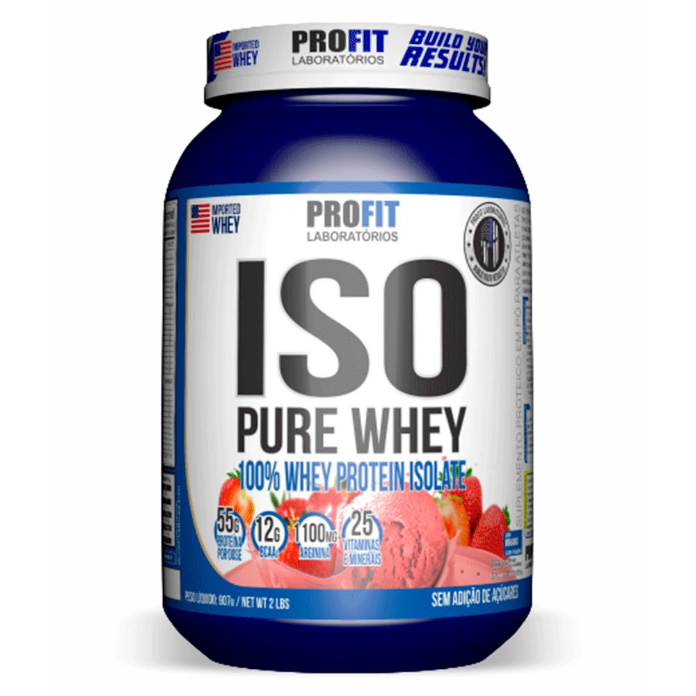 Whey Protein ISO Pure Whey Morango 907g Profit
