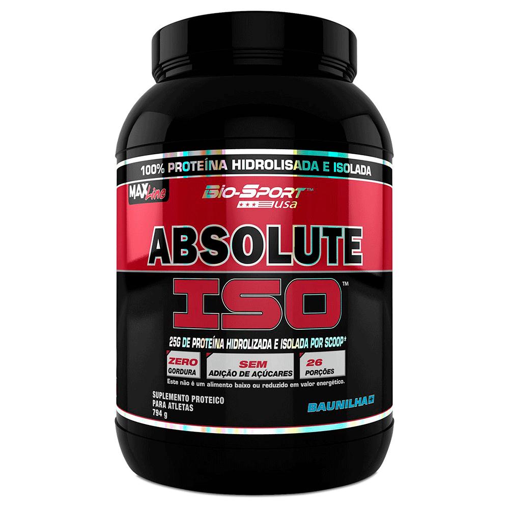 Whey Protein Isolado Absolute Iso 900Gr Baunilha Bio-Sport