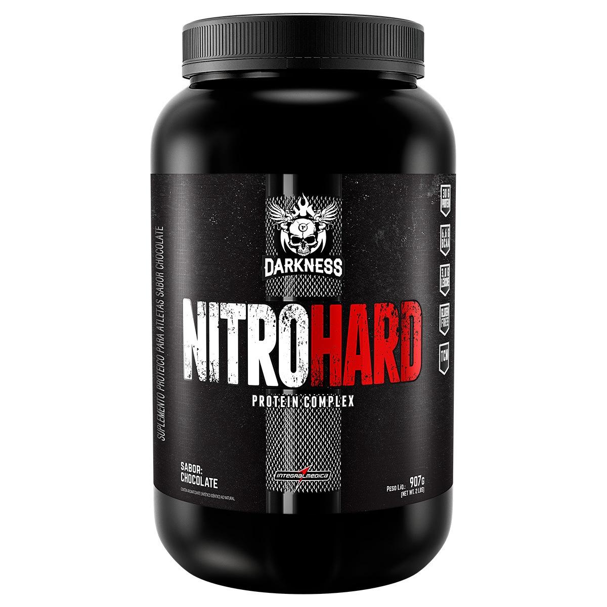 Whey Protein Nitro Hard Morango 907G Integralmédica