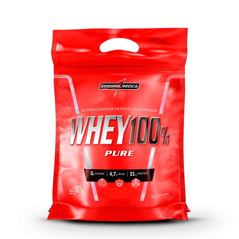 Whey Protein Pure Whey 100% Rf 907Gr Baunilha Integralmedica