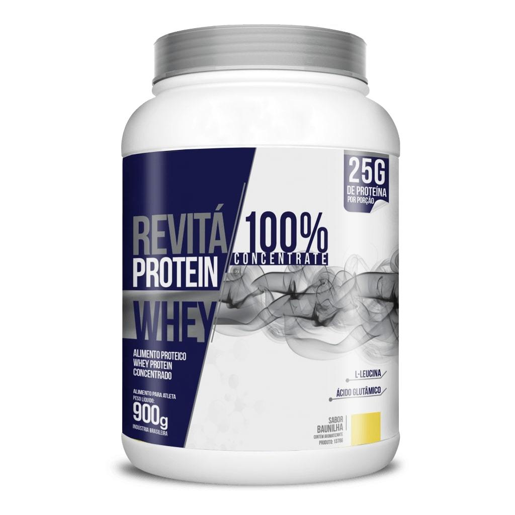 Whey Protein Revitá 100% Concentrate 900g Sabor Baunilha