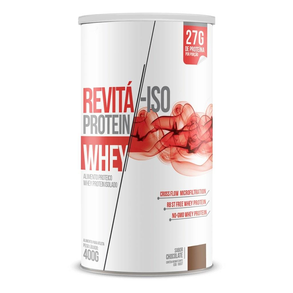 Whey Protein Revitá-ISO 400g Sabor Chocolate
