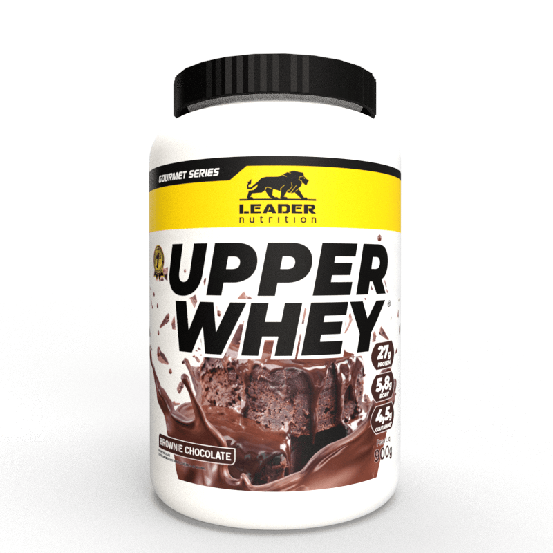 Whey Protein Upper Whey 900G Chocolate Brownie Leader Nutrition
