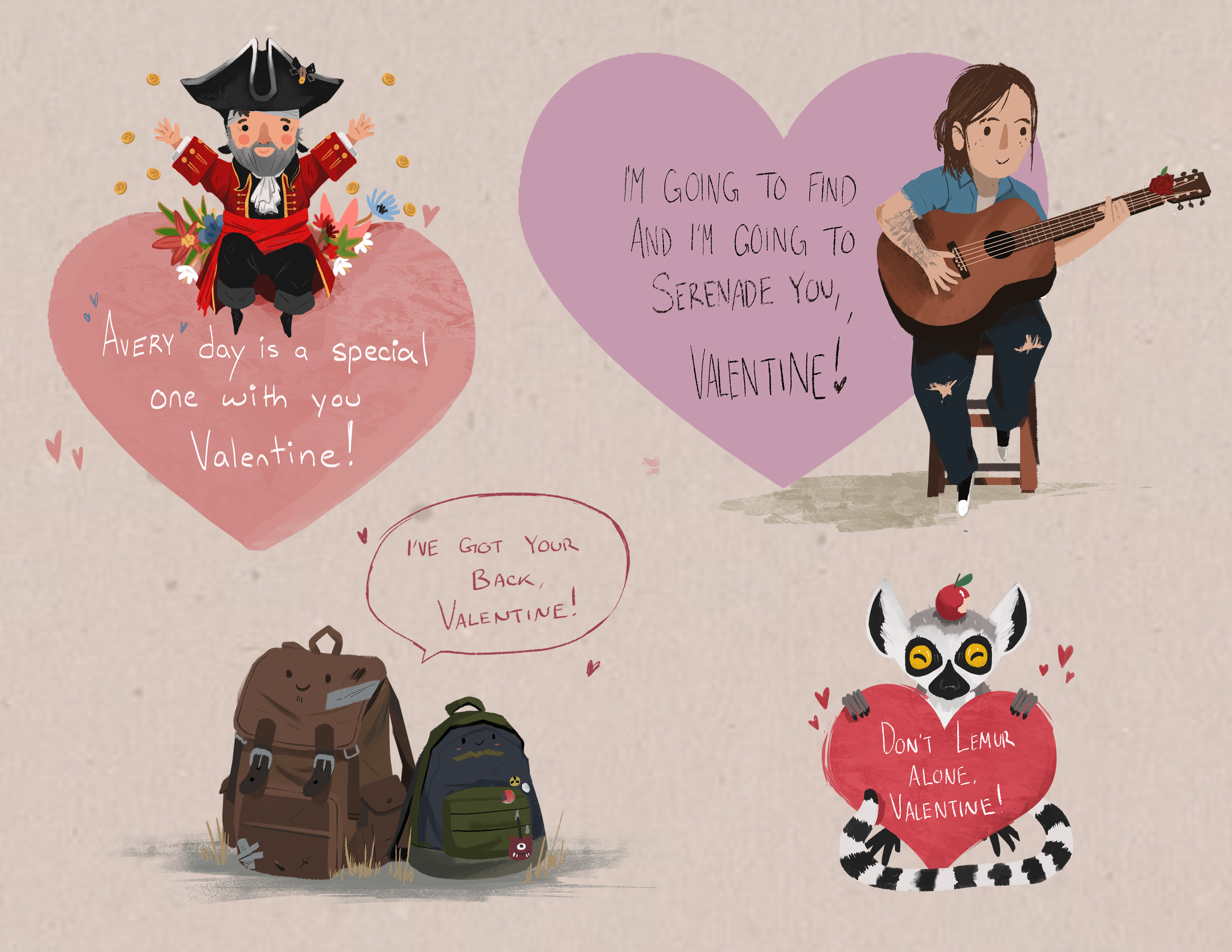 Spread the Love with Naughty Dog's Valentine's Day Cards for 2017