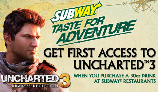 Subway Taste for Adventure Uncharted 3 Multiplayer Experience- Week 2