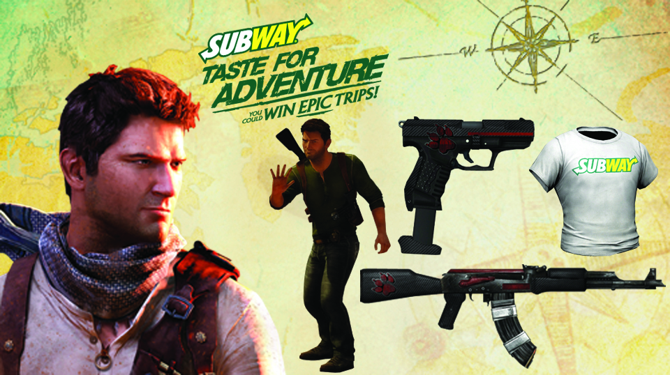 UPDATE: Subway Unlock Codes for Uncharted 3: Drake's Deception